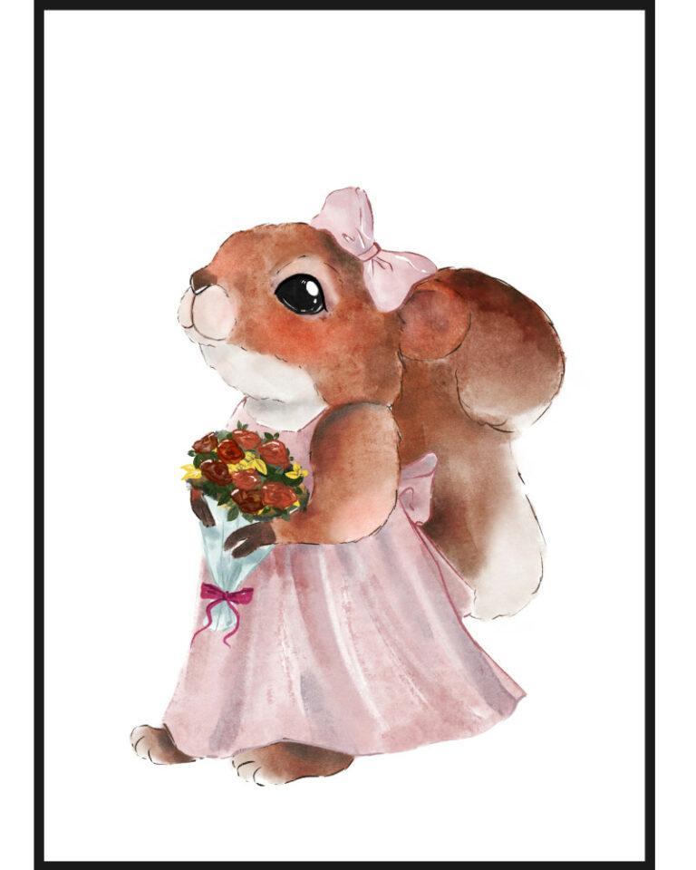 plakat z wiewiórką werką