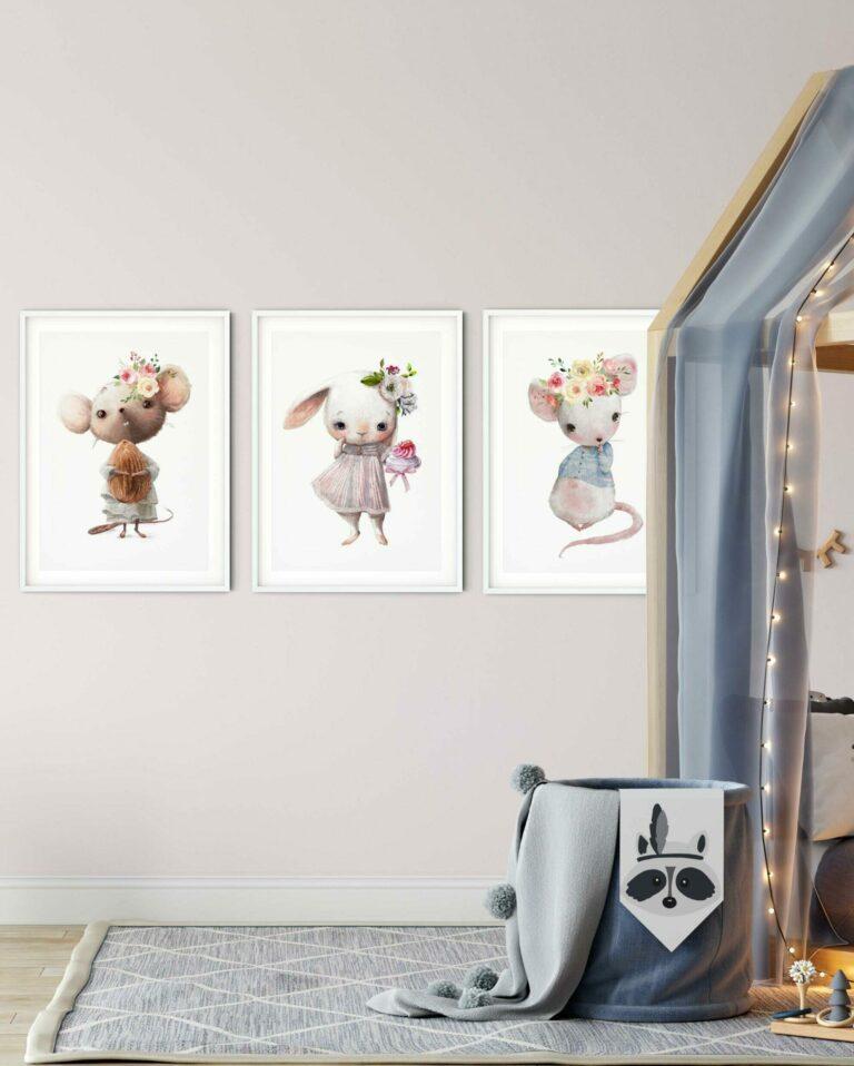 plakaty dla dziecka ze zwierzętami