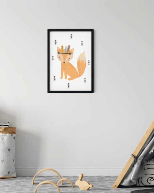 lisek plakat dla dzieci