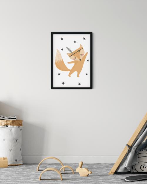 plakat z liskiem dla dziecka