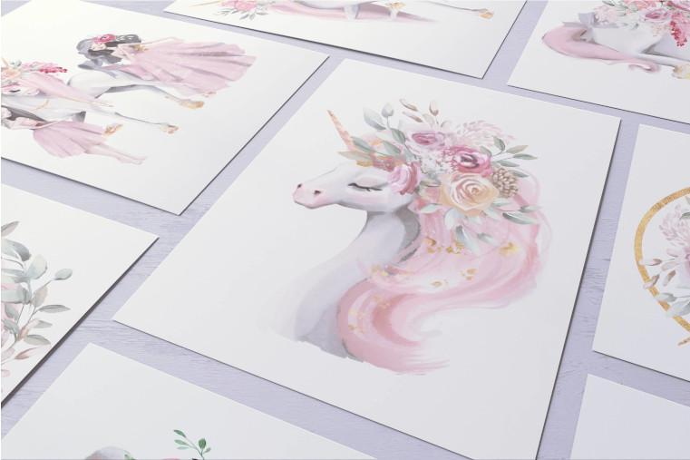 Plakaty do pokoju dziecka kolekcja magia jednorożców
