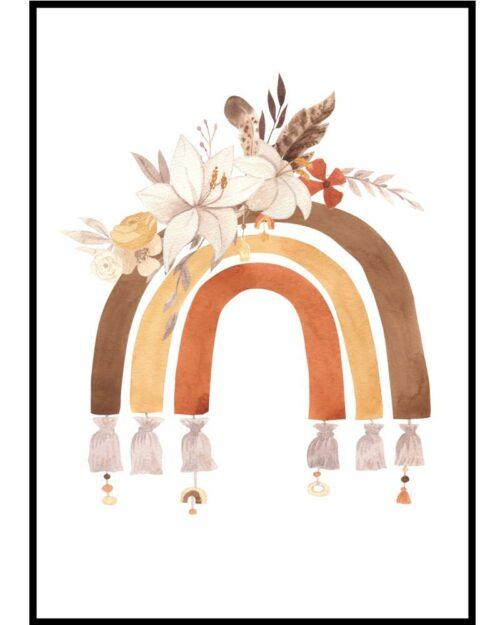 plakat dla dziecka w stylu bohemian