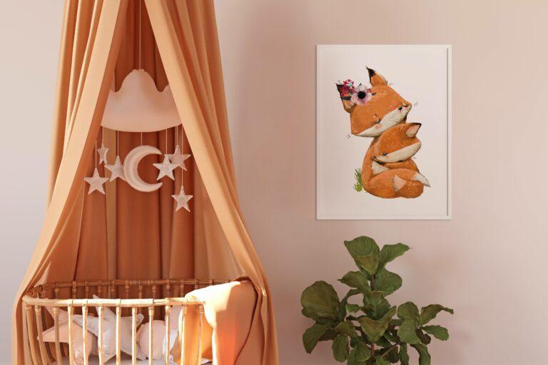 Plakat do pokoju dziecięcego z liskiem