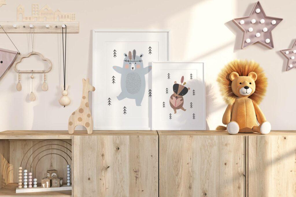 kolekcja plakatów skandynawskich do pokoju dziecka