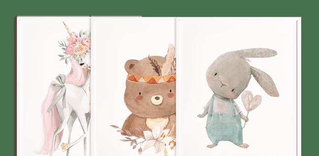 plakaty dla dzieci ze zwierzętami